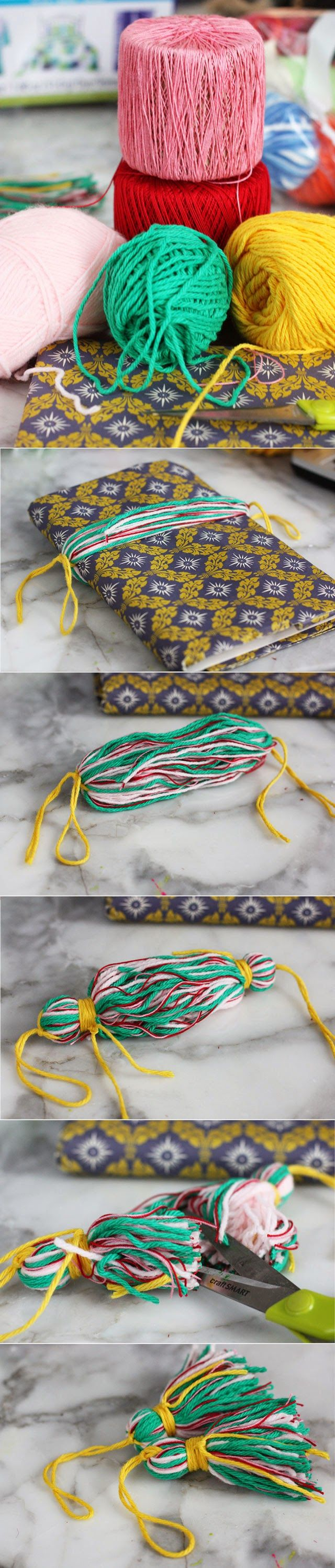 How to make simple tassels with yarn.