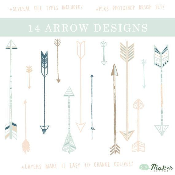 Arrow Clip Art - Digital Graphic Set -Photo Overlays | Tattoo Ideas!