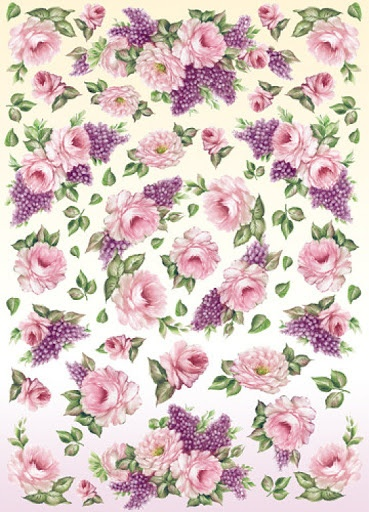 PRINTS ... AND WORK WITH FLOWERS ...use for background paper or use individually for decoupage, etc.