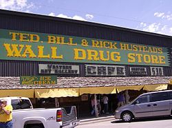 Wall, South Dakota -Wall Drug Store, home of ice cold water straight out of the ground!