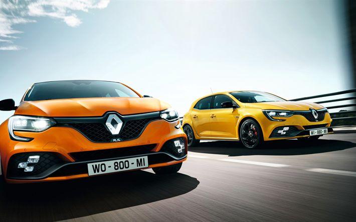 Descargar fondos de pantalla 4k, Renault Megane RS, 2018 coches, pista de carreras, nuevo Megane RS, los coches franceses, Renault