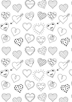 Free digital heart scrapbooking paper - nursery printable - ausdruckbar - freebie | MeinLilaPark – DIY printables and downloads