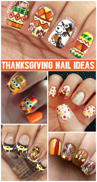 Thanksgiving nail designs ideas beautify themselves with sweet nails thanksgiving nails on pinterest nail art designs thanksgiving and prinsesfo Gallery