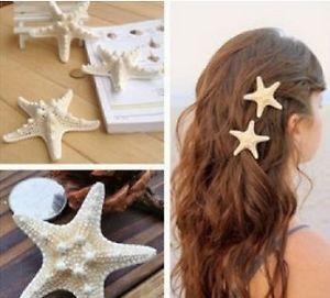 Magnifique Pince À Cheveux Étoile DE MER Barrette AU Mariage MER Plage | eBay