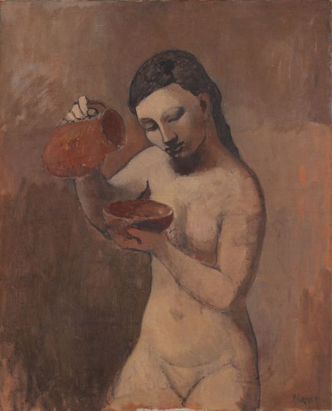 Nude with a Pitcher, 1906 Pablo Picasso