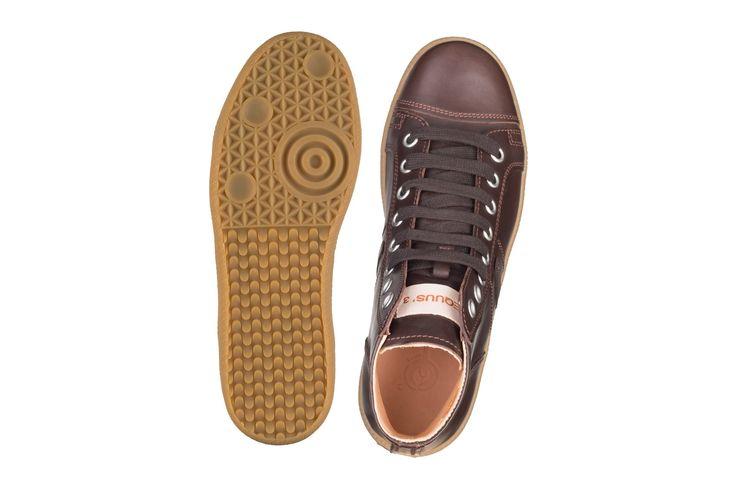 Sneakers alte eleganti in pelle