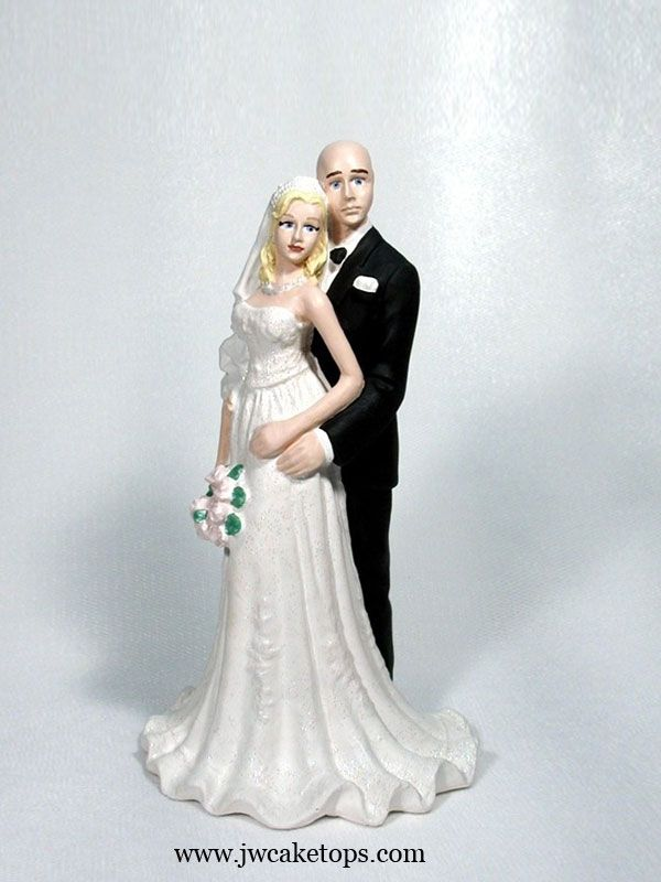bald groom and bride wedding cake topper 17 best images about bald grooms wedding cake toppers on 11050