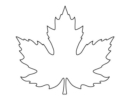 Modest image for printable leaf stencil