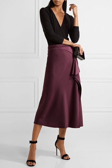 Grape silk-charmeuse Concealed hook and zip fastening at side 100% silk Dry clean Designer color: Currant As seen in The EDIT magazine