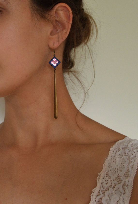 Vintage Summer long earrings