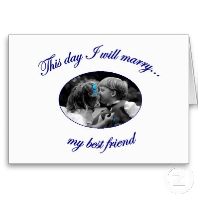 WISH They Were In Yellow Today I Marry My Friend Invitations BLUE