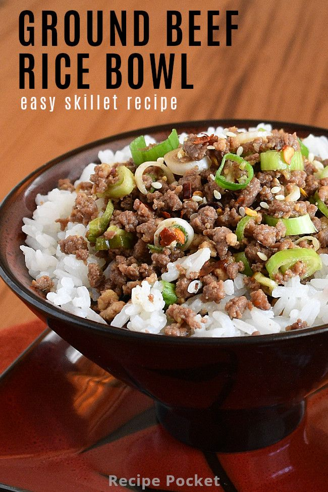 Easy Korean Ground Beef Rice Bowl On The Table In 20 Min Recipe In 2020 Beef Rice Bowl Recipe Ground Beef Rice Beef And Rice