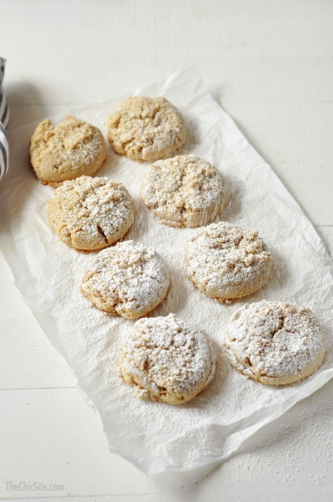 Coffee Cake Cookies ~ so delicious with a crumb topping and powdered sugar
