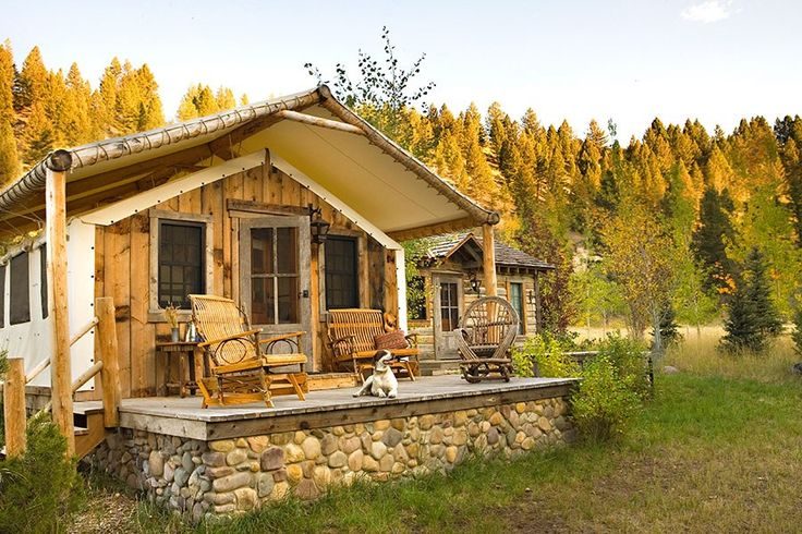 At Relais & Châteaux's four-year-old Ranch at Rock Creek, in Philipsburg, Montana—a two-hour drive west of Helena—guests have the option of staying in rustic-luxe log cabins or bedding down in one of ten canvas-walled and -roofed tentlike suites whose private bathrooms, fluffy beds, and wood-burning stoves put the glam in glamping. From $995/night per person; theranchatrockcreek.com