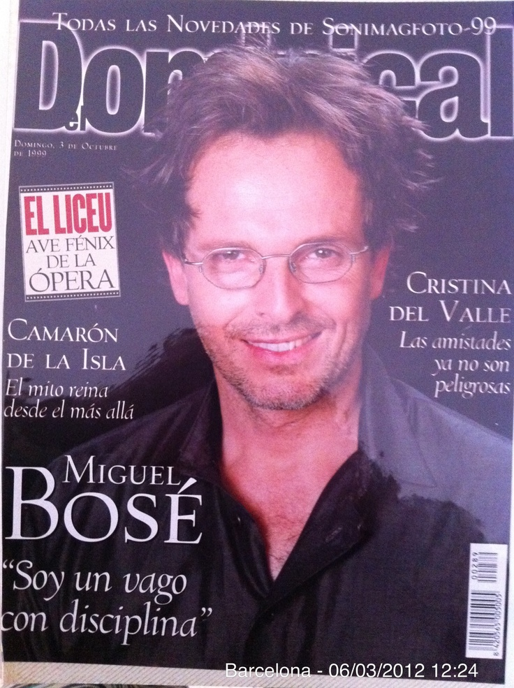 "Miguel Bose 1999  ""I'm lazy to discipline"""