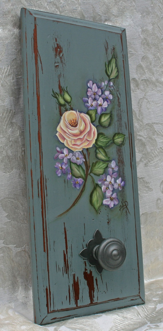 Shabby Chic Hand Painted Rose by JCandmeArt on Etsy, $34.50