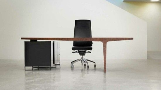 Modern office furniture, wooden table