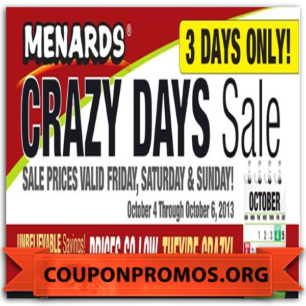 Menards coupon code