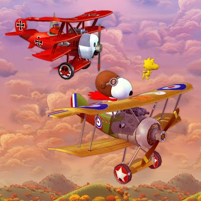 The Red Baron (real name: Manfred Freiherr von Richthofen) serves as the primary antagonist for Snoopy's battles as the World War I Flying Ace. Snoopy's imaginary battles against the Red Baron began in the comic strip in October 1965 and would continue in it for several decades. Snoopy's make-believe encounters with the Red Baron would also be seen on television and they inspired a novelty record.