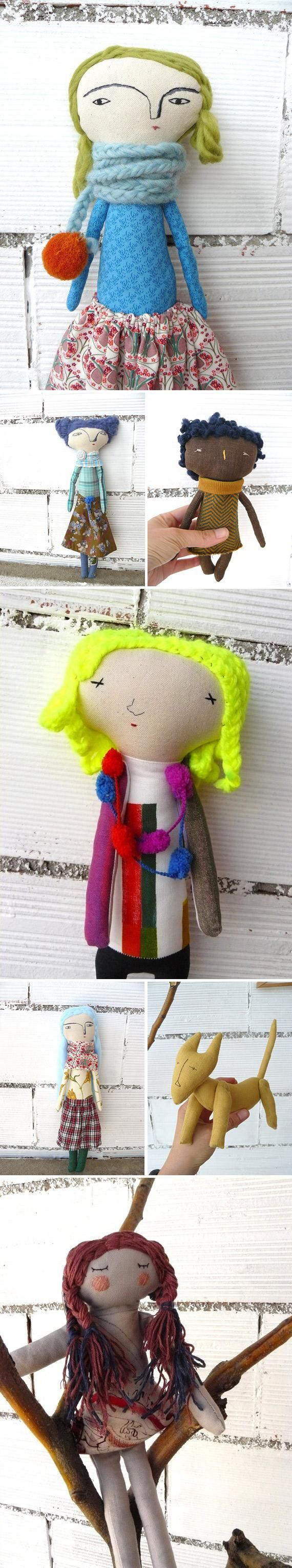 Madrid-based maker Leticia Oyola's handmade cotton toys are no run-of-the-mill rag dolls. See the rest of her styles (or order a custom design) in her Etsy shop, AntonAntonThings. #etsy