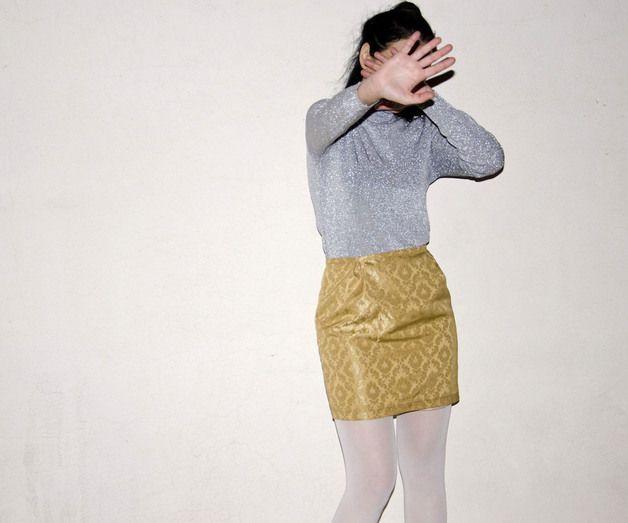 via en.dawanda.com Made to Measure Skirts – Gold Brocade Mini Skirt – a unique product by karmologyclinic on DaWanda