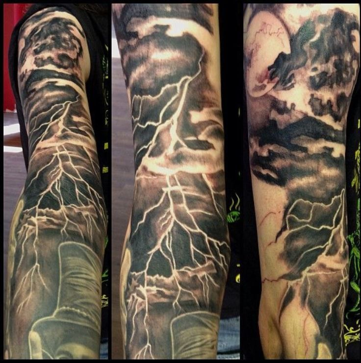 Best 25 storm tattoo ideas on pinterest negative tattoo for How to lighten a tattoo with white ink