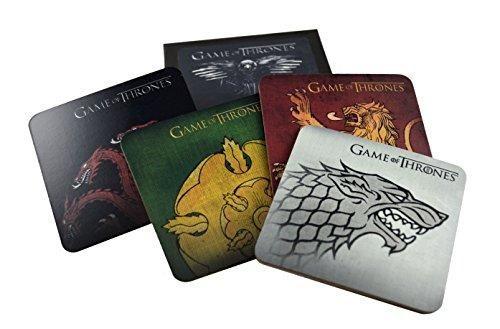 Game of Thrones 871001003655 Cork-Back Coaster Set Stark/Targaryen/Lannister/Tyrell, Multicolored