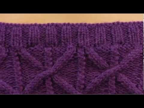 Dos agujas: ochos básicos (o trenzas tejidas en dos agujas o palitos) - YouTube