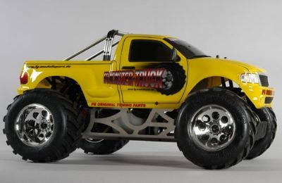 RC FG Modellsport Monster Truck ARTR (Yellow) w/26cc: Trucks Artr, Monster Trucks, Stadiums Trucks, Trucks Appearances, Rc Trucks, Nitro Trucks, Monsters Trucks