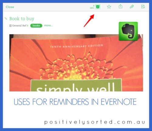 Great Biz USes for Reminders in Evernote