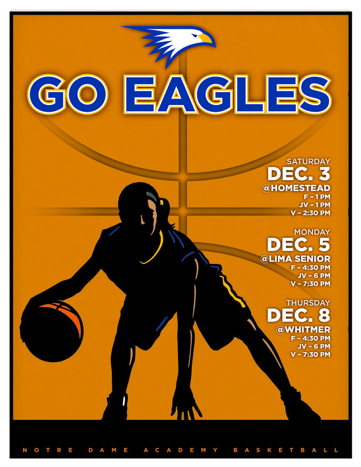 Notre Dame Academy Basketball Sign