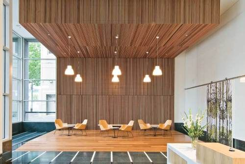 You have to love this look. I'm doing this somewhere in my house. Love the integration of the walls with the ceiling.