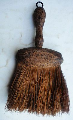antique victorian AWESOME PRIMITIVE HAND BRUSH mini broom treenware