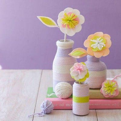 craft a bouquet of felt flowers
