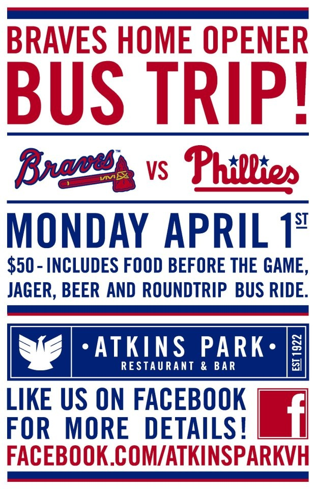 Atkins Park Restaurant Is Taking You Out To The Ballgame For 2013 Braves Home Opener