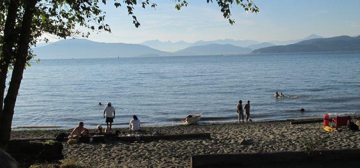 Spanish Banks, Vancouver, BC - View across English Bay toward Howe Sound