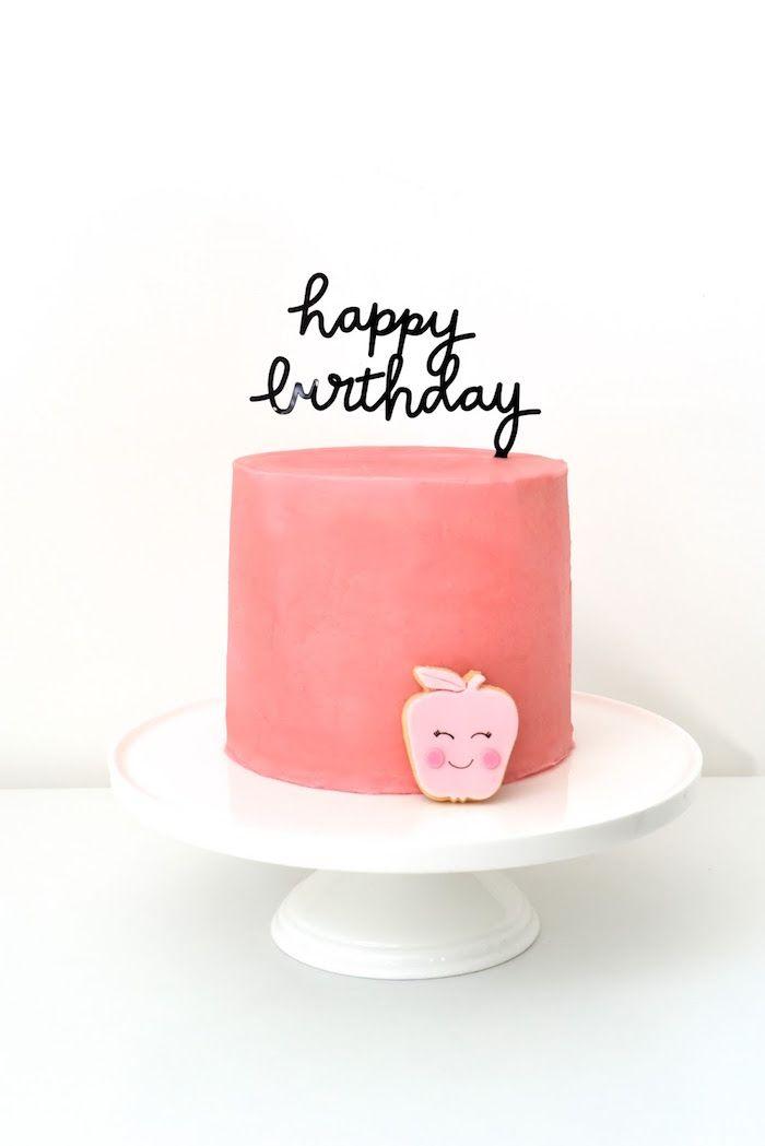 Cake from an Apple of my Eye Themed Birthday Party via Kara's Party Ideas  KarasPartyIdeas.com (16)