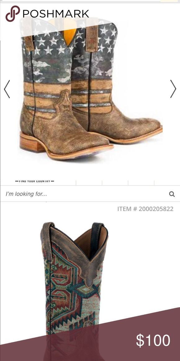 ISO!!!! Tin hauls or Laredo Aztec Boots Looking for any tin haul boots size 7-8 or these exact Laredo Aztec boots!! Not looking to spend over $100 Shoes Heeled Boots