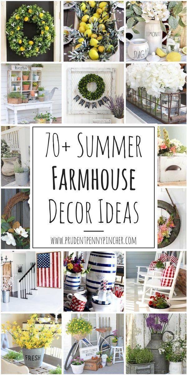 70 Best Summer Farmhouse Decor Ideas Farmhouse Decor Rustic