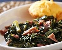 Turnip Greens With Ham Shanks  (This i9s kind of like the ones they make at Cracker Barrel, they are so so good)