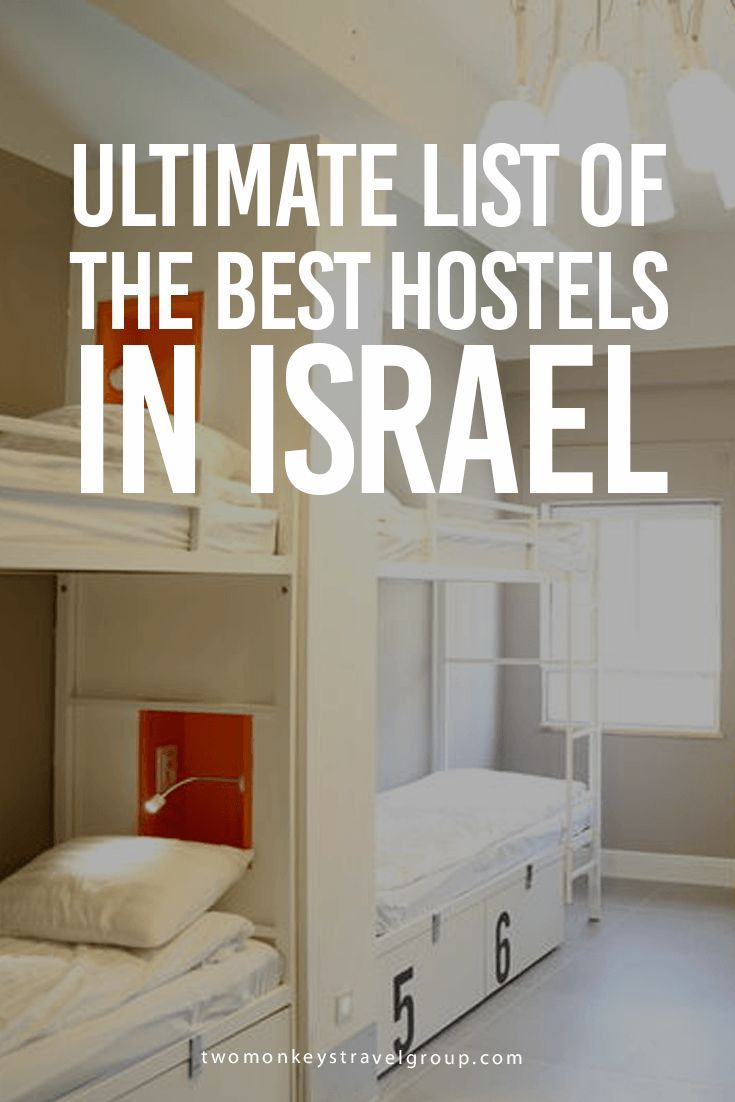 Ultimate List of The Best Hostels in Israel Providing you the ultimate list of the BEST HOSTELS IN ISRAEL – includes rates, locations and great reviews that will definitely help you with your stay anywhere in Israel!  In this article, you will find the following – Best Hostels in Tel Aviv; Best Hostels in Jerusalem; Best Hostels in Eilat; Best Hostels in Haifa; Best Hostels in Dead Sea; Best Hostels in Tiberias; Best Hostels in Nazareth; and Best Hostels in Mitzpe Ramon.