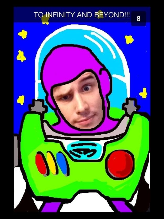 This Guy Is The Van Gogh Of Snapchat. Buzz Lightyear! #toystory #buzzfeed #buzzlightyear