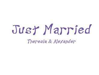 Aufkleber Just Married