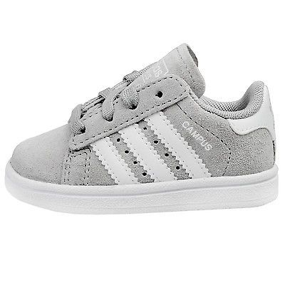 the best attitude 0bcd2 3a336 Adidas Campus 2 Infant C77171 Grey White Shoes Toddler Sneakers Td Baby Size  10   My Shop 551155111 in 2019   Toddler sneakers, White toddler shoes, ...