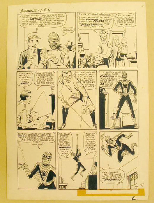 Steve Ditko, Original artist of the early spiderman comic.