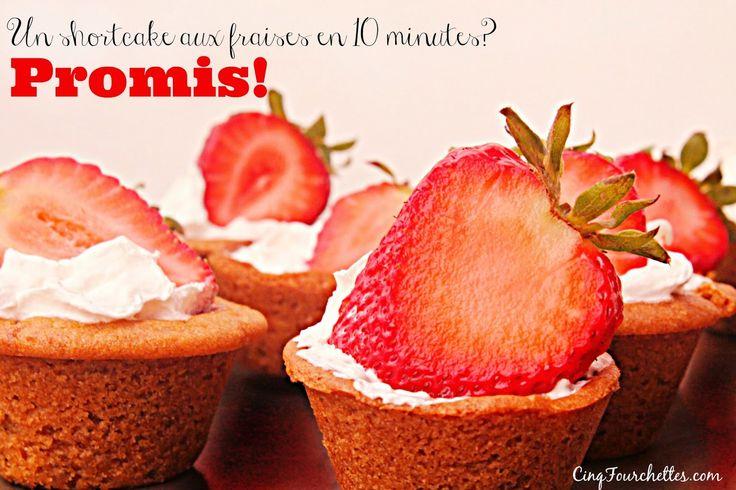 Mini shortcake aux fraises rapide