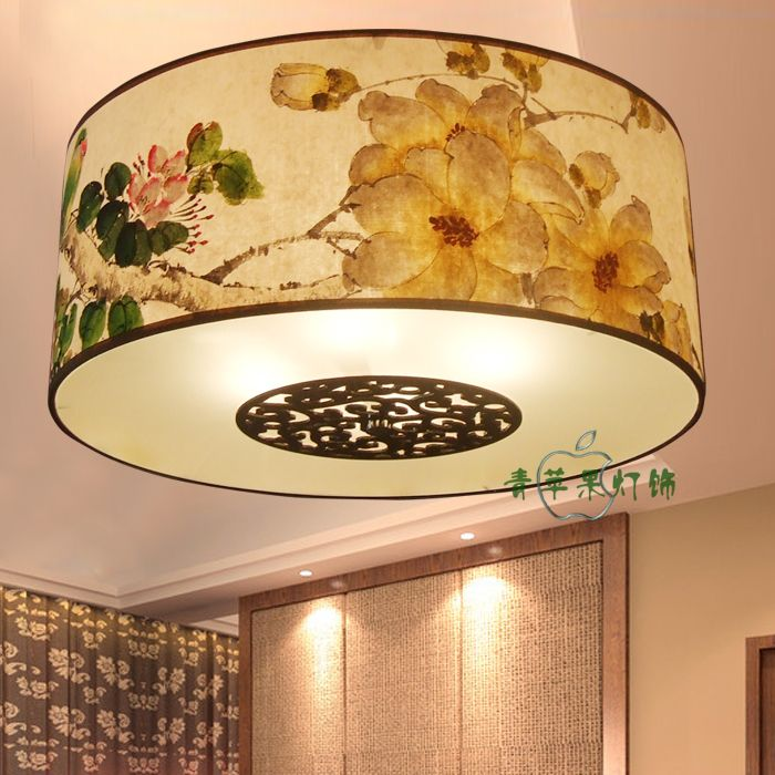 Handmade xuanzhi traditional chinese painting ceiling light bedroom lights study light classical chinese style faux US $98.99