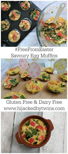 Hijacked By Twins: Savoury Egg Muffins - Gluten Free and Dairy Free #FreeFromEaster