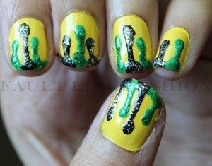 Jamaica Independence day/ Olympics nails