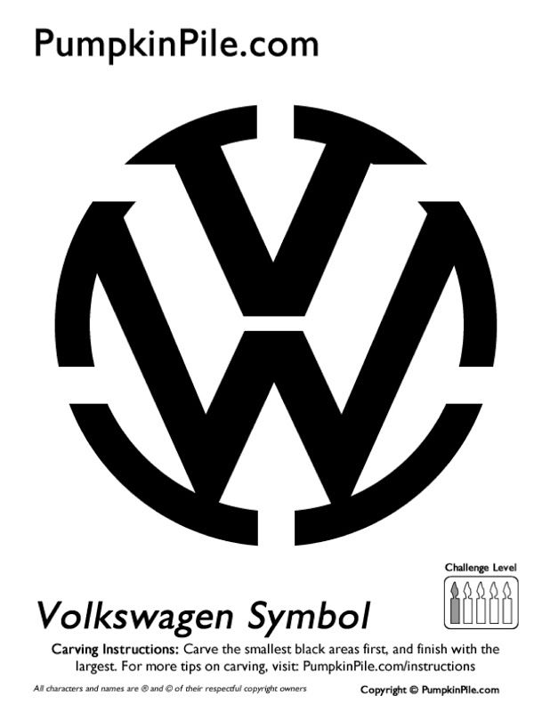Automotive pumpkin carving patterns vw the volkswagen